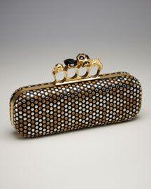Alexander McQueen Knuckle-Clasp Clutch - Bergdorf's