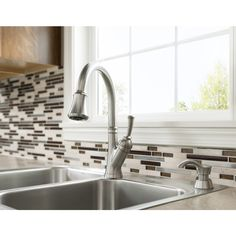 Shop Delta Savile Stainless 1-Handle Pull-Down Kitchen Faucet at Lowes.com