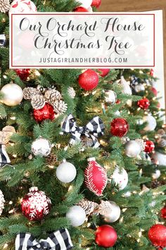 Our 2016 Orchard House Christmas Tree Best Christmas Markets, Christmas Traditions, Christmas Time, Christmas Bulbs, Christmas Ideas, Christmas Party Themes, Christmas Tablescapes, Christmas Tree Decorations, Outdoor Christmas Wreaths