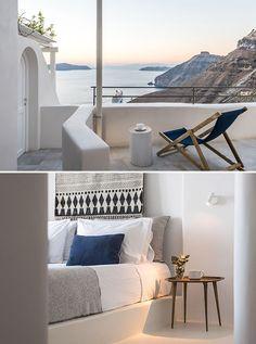 Porto Fira Suites in Santorini. Interior Design by Interior Design Laboratorium. Photography by Giorgos Sfakianakis