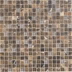 Daltile Stone Radiance Wisteria 12 in. x 12 in. x 8 mm Glass and Stone Mosaic Blend Wall Tile, Wisteria/Tortoi