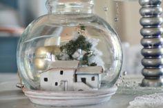 Hobby Shabby Shock: .....anche una vecchia boccia per i pesci rossi può diventare decorazione di Natale..!