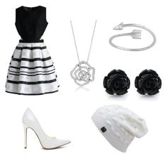 """""""Classic black&white"""" by abnich on Polyvore featuring Chicwish and BERRICLE"""