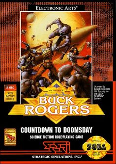 Greed, pollution, and cosmic war have brought the earth to the brink of destruction. Now you must join forces with rocketjock Buck Rogers on a combat mission to destroy the evil empire's ultimate weapon, the dreaded Doomsday device. Used Video Games, Sega Genesis Games, Game Of The Day, Knight Games, Evil Empire, Electronic Art, Gaming Computer, Science Fiction, Retro Games