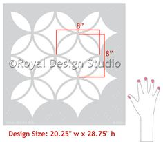 Moroccan Stencils | Endless Circles Lattice | Royal Design Studio for the kitchen wall, and to remind me always of the Gloucester home