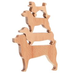Stacking dog puzzle