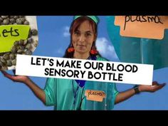 Blood Sensory Bottle Kids Tutorial - YouTube Mindfulness For Kids, Sensory Bottles, Science For Kids, Young People, Blood, Yoga, Let It Be, Children, Youtube