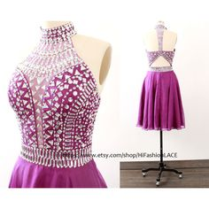 Grape Short Prom Dress Crystal Straps Chiffon Prom Gown Homecoming... ($119) ❤ liked on Polyvore featuring dresses, black, women's clothing, a line dress, formal dresses, casual white dresses, prom dresses and white cocktail dresses
