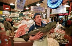 Pike Place Fish Market - Seattle, Washington - been here once, but it was closed. :-( Need to go back!