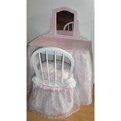 Kids Bedroom Vanity teamson kids bouquet girls oval mirror bedroom vanity & stool set