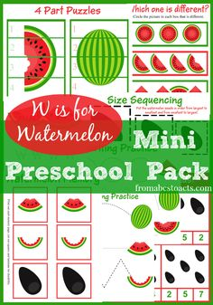 Watermelon Mini Preschool Pack