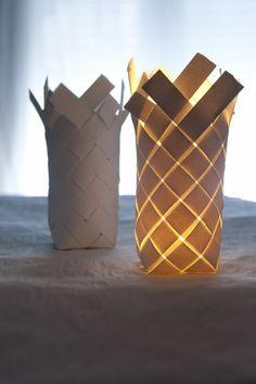 tischlampen papierlampen weiß gewebt schick