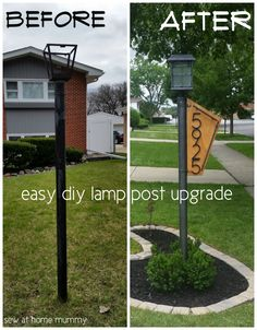 Lamp Post Idea A Really Easy Way To Add Some Curb Eal How