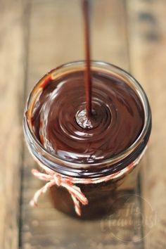 3-Ingredient Vegan Chocolate Sauce {grain free, gluten free, refined sugar free}