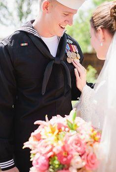 22 Beautiful Military Wedding Photos | Brides