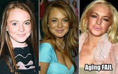 WTF Happened to Lindsay Lohan - funny pictures - funny photos - funny images - funny pics - funny quotes - #lol #humor #funny