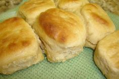 I found this recipe in one of my cooking light magazines. These biscuits are easy to make and they have a great taste. I used 3 C. white flour and 2 C. wheat flour and vegetable oil instead of the shortening and they turned out perfect! 21 Day Fix, Thanksgiving Recipes, Holiday Recipes, Thanksgiving 2020, Holiday Desserts, Low Cal, Thing 1, Southern Recipes, Southern Meals