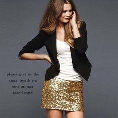 Sexy Glitzer Mini Rock in Gold