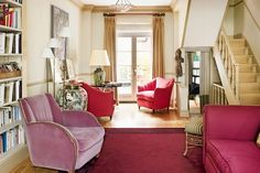 Living Room Colour Scheme in Neutral and Red - Living Room Design Ideas (houseandgarden.co.uk)