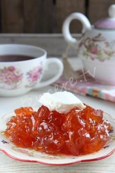 Do not say whether it is jam without apples :) It can be delicious. A light and delicious … - Obst Jam Recipes, Fruit Recipes, Apple Recipes, Snack Recipes, Dessert Recipes, Drink Recipes, Desserts, Paella, Apple Jam