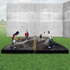TURF winners use mini-golf to explore present-day city life in L. Golf Range, Crazy Golf, Putt Putt, Present Day, Architect Design, City Life, Golf Courses, Explore, Architecture