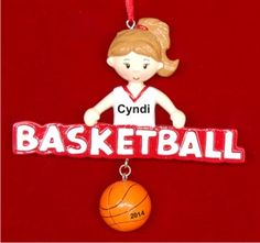 Talented Basketball Girl Personalized Christmas Ornament
