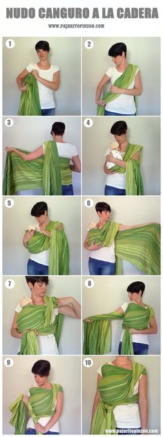Fular tejido: Nudo canguro a la cadera Nudo canguro a la cadera. Paso … Knitted scarf: Kangaroo hip hip Kangaroo knot at the hip. Baby On The Way, Mom And Baby, Baby Love, Baby Wearing Wrap, Moby Wrap, Baby Carrying, Baby Wrap Carrier, Hip Hip, Baby Sling