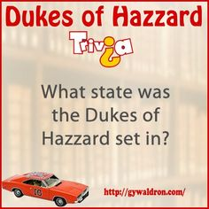 What state was the Dukes of Hazzard set in? #DukesofHazzard