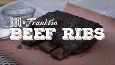 Y'all ready to learn how Aaron Franklin makes beef ribs? Join KLRU and Aaron to learn step by step. Bbq Beef Ribs, Beef Back Ribs, Bbq Grill, Grilling, Smoke Grill, Bbq Ideas, Turkey Dishes, Smoker Recipes, Green Eggs