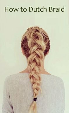 The Dutch braid is one of my favorites. It is very similar to a French braid but backward so its...