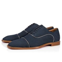 Christian Louboutin United States Official Online Boutique - Greggo Zip Flat Navy/Silver Calf Nubuck available online. Discover more Men Shoes by Christian Louboutin Men's Shoes, Dress Shoes, Shoes Men, Online Boutiques, Casual Shoes, Calves, Christian Louboutin, Oxford Shoes, Gucci