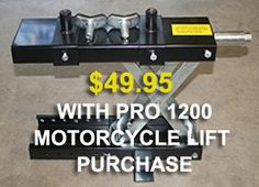 PRO MOTORCYCLE LIFT SALE - DISCOUNT SERVICE JACK w/PURCHASE!