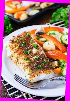 Cod Fish Recipes, Seafood Recipes, Easy Healthy Dinners, Healthy Dinner Recipes, Whole30 Recipes, Clean Recipes, Lean Dinners, Parmesan, Lean Protein Meals