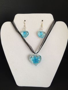 Lampwork Glass Earring and Necklace set