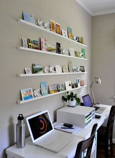 Postcard shelves - I love to collect postcards and bits of inspiration, so I love this shelving idea.