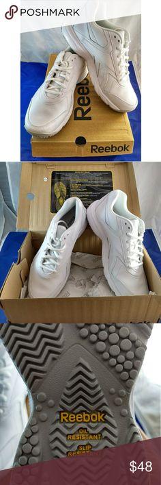 1e15f5040d2 Reebok Work  N Cushion white leather shoes Reebok Work N  Cushion white  leather shoes. No price tags Reebok Shoes Sneakers