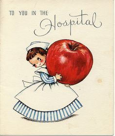 Vintage card 'To you in the Hospital'
