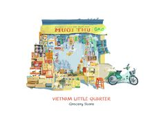 "查看此 @Behance 项目:""Vietnam Little Quarter""https://www.behance.net/gallery/41932055/Vietnam-Little-Quarter"