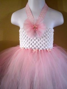 Gorgeous pink & white tutu dress (size 12-24mos)    Available at www.facebook.com/gracelikerainbowtique OR www.etsy.com/shop/tmjoy728