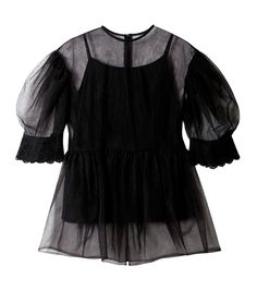 ルシェルブルー/LE CIEL BLEU - シアーパフスリーブチュニック-BLACK(シャツ/shirt) | RESTIR リステア