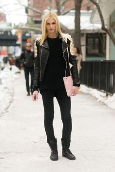 thenycstreets:  I'm super happy for model Andreja Pejic, formerly known as Andrej Pejic, who came out publicly as a transgender woman yesterday! I'm glad she can live the life she feels to be true now. Here after DKNY FW14 for models.com Read her style.com interview here (via NYFW FW14 Street Style by Melodie Jeng (models.com))