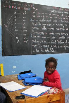 School at Goree island, Sénégal.