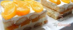 Recept Barackos piskótaszelet Vegetarian Breakfast Recipes Easy, Peach Slices, Bread And Pastries, Special Recipes, Biscuits, Cheesecake, Easy Meals, Food And Drink, November