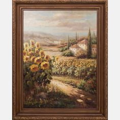 LOT 27 ROMMITTSRommitts, (20th Century) - Tuscany Landscape, Medium: Oil on canvas, Dimensions: H: 49 W: 48 Est: $200-400 Signature Signed lower right.