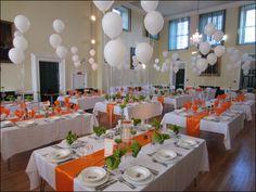 balloons at wedding reception | The main hall decked out with balloons for a wedding reception.