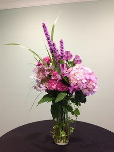 gorgeous purple flower arrangement