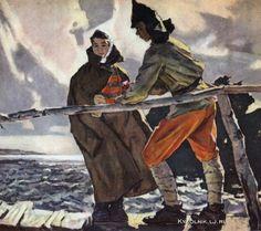 Путейко Владимир Григорьевич (Украина, 1925) «Красная гвоздика» 1954