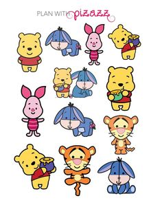 WINNIE THE POOH Disney Inspired stickers!  These stickers fit perfectly in the Erin Condren Life Planner.   The stickers are not removable. These