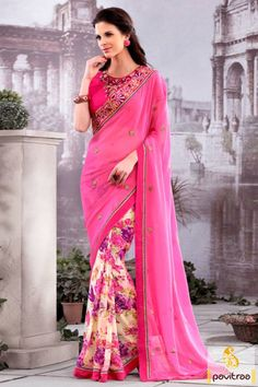 Look attractive with multicolor georgette designer saree online shopping with special discount sale 2015. Shop this stylish embroidery worked latest designer saree online with Diwali season festival special offer.  Diwali Special Discount Offer:  5% OFF FOR Buy 1 Product 10% OFF FOR Buy 2 Product 15% OFF FOR Buy 3 Product or more #designersaree, #partywearsaree, #festivalsaree #pavitraafashion http://www.pavitraa.in/store/designer-collection/ callus: +91-7698234040
