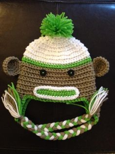 Made to Order Crochet Baby Newborn Green Boy Girl by beaniebird, $17.00